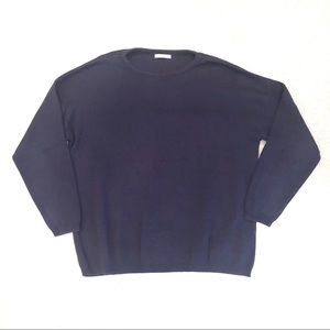 Joan Vass Cotton Crew Neck Sweater
